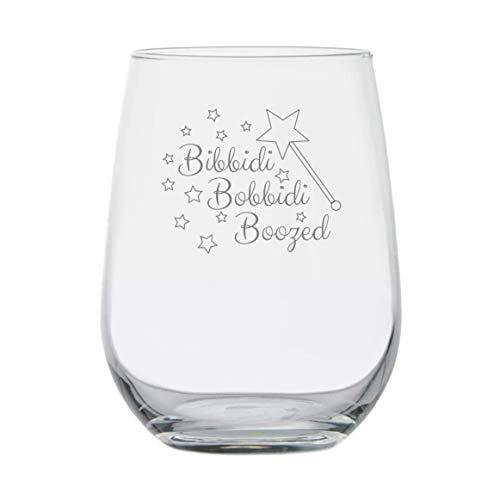Bibbidi Bobbidi Boozed - Disney Princess Wine Glass - Disney Gifts - Funny Birthday Present - Movie Themed - Disney Wine Glasses - Fairy Godmother - Cinderella Theme