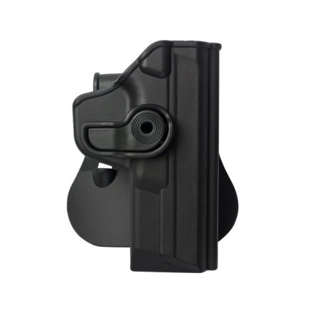 IMI-Defense IMI-Z1120 Paddle Black Tactical Black Polymer Active Retention Holster Level 2 for S&W - Holster Black Active