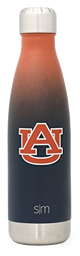 Simple Modern Auburn University 17oz Wave Water Bottle - Vacuum Insulated Tigers 18/8 Stainless Steel Powder Coated Travel Mug