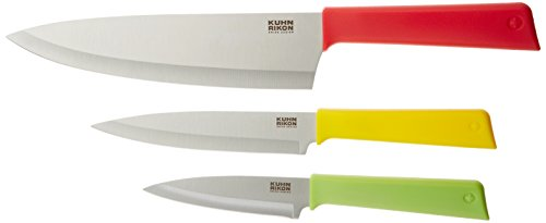 Kuhn Rikon Color Plus Classic Professional Set, Red/Yellow/Green