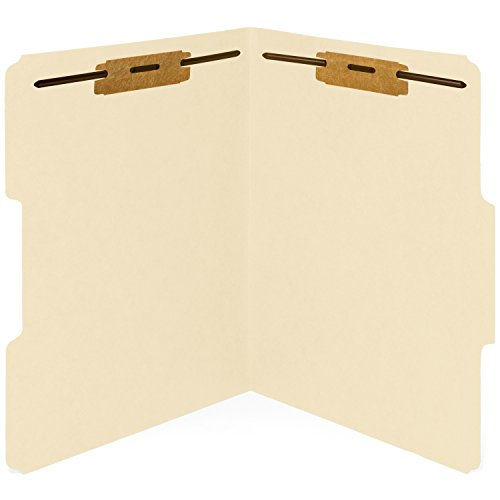Folders Medical Manila File (50 Manila Fastener File Folders- 1/3 Cut Reinforced tab- Durable 2 Prongs Bonded Fastener Designed to Organize Standard Medical Files, Law Client Files, Office Reports– Letter Size, Manila, 50 Pack)