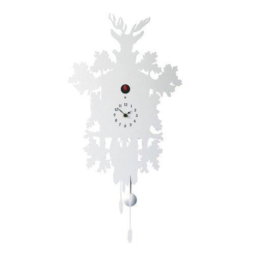 Diamantini /& Domeniconi Pendule /à coucou avec coucou rouge par Pascal Tarabay Blanc