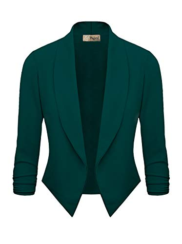 Womens Casual Work Office Open Front Blazer JK1133 Green XL