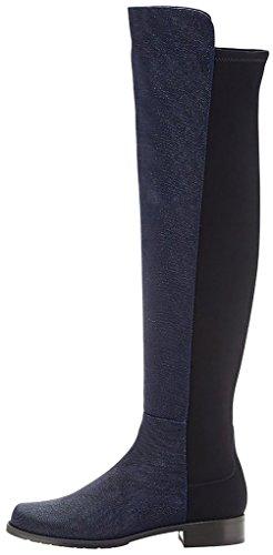 2 Boots Calovely Calaier Size blue Women's XawSSUqxEZ