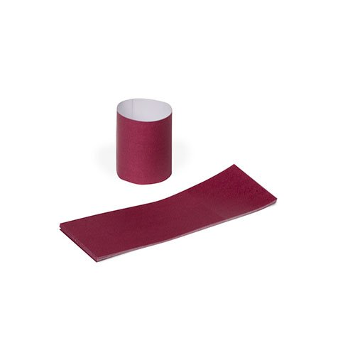 Royal Burgundy Napkin Bands with Self-Sealing Glue and Bond Paper Construction, Package of 100