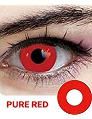 Halloween Contact Lenses Colored Contacts Lenses Zombie Makeup Cosplay Contact Lenses Eye Contacts Vampire Contacts Eye Shadow (Red) -