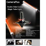 CameraPlus CP-MTLIID (2 Batteries Pack) - 55cm Magic Tube Light Double Sided Colors 298 LED Light Source for Camera - All-in-One Solution for photography and videography - Advance version of Ice Light