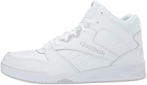 Reebok Men's BB4500 Hi 2 Sneaker, White/Light Solid Grey, 12 Wide