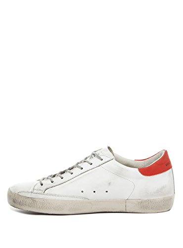 GOLDEN GOOSE SUPERSTAR CRACKED LEATHER RED 43 uomo