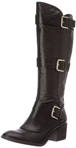 Donald Pliner Leather Harness - Donald J Pliner Women's Dax-TC Harness Boot,Black Tumbled Calf,6 M US