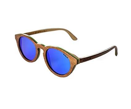 WoDLoK - Gafas de Sol Modelo Ebony Sheet Brown con Cristales ...