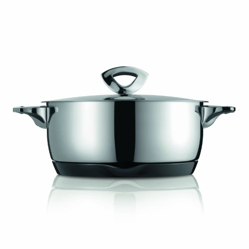 Kuhn Rikon Durotherm Swiss-Made Cookware, Casserole with Lid, 9-Inch - 3QT