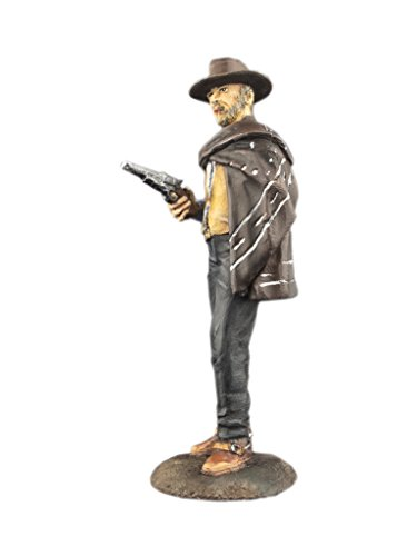 Ronin Miniatures Wild West Cowboy Good Clint Eastwood As Blondie AKA The Man With No Name Hand Painted Tin Metal Collection Toy Soldier Size 1/32 Scale 54mm for Home Collectible - Painted Tin Hand
