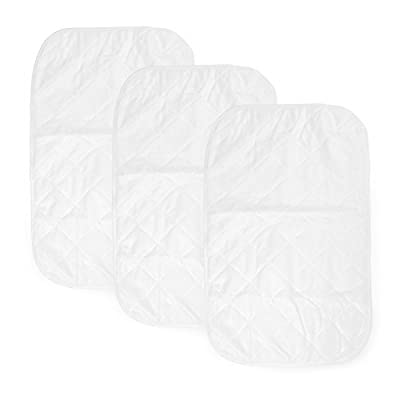 """Green Baby Changing {3 - Pack} Bamboo Baby Changing Pad Liners Extra-Large 15.7"""" X 27.5"""" Waterproof, Hypoallergenic, Antibacterial, Quilted for Comfort, Machine Wash & Dry Friendly"""