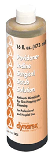 Iodine Povidone Scrub Surgical - Dynarex Povidone-Iodine Surgical Scrub Solution 16 oz (Pack of 2)