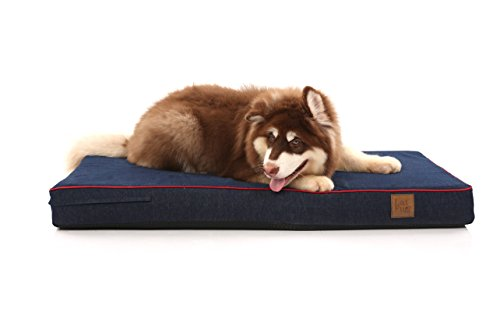 - Laifug Orthopedic Memory Foam Pet/Dog Bed (Large46''x28''x4'', Blue Denim) with Durable Water Proof Liner and Removable Designer Washable Cover