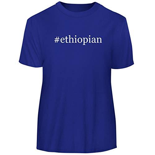 One Legging it Around #Ethiopian - Hashtag Men's Funny Soft Adult Tee T-Shirt, Blue, X-Large