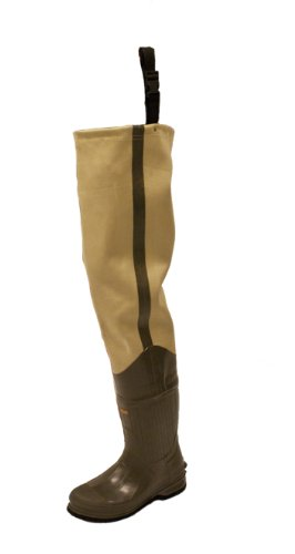 Frogg Toggs Bull Frogg 3-ply PVC Canvas Bootfoot Hip Wader, Cleated or Felt Outsole
