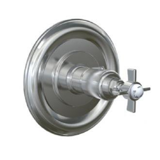 Jado 845780.150 Savina 3/4-Inch Thermostatic Mixing Valve with Cross Handle, Platinum Nickel