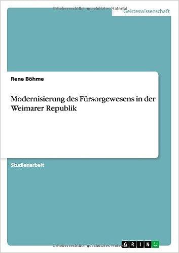 Modernisierung Des Fursorgewesens in Der Weimarer Republik (German Edition)