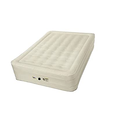 Image of Serta Wenzel 14' Queen Air Mattress with External Ac Pump & Neverflat Fabric Tech