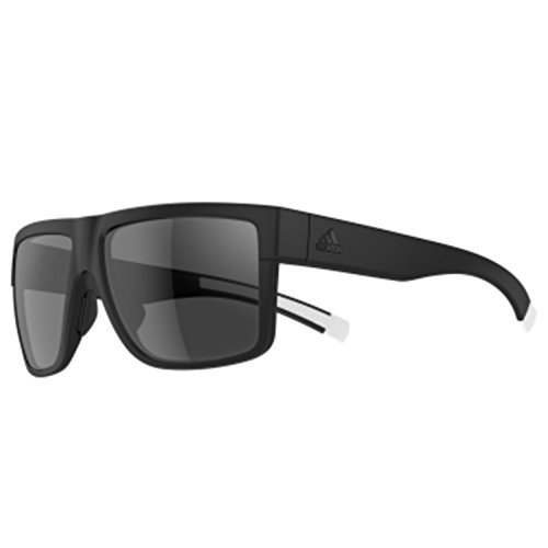 adidas 3matic Non-Polarized Iridium Rectangular Sunglasses, Black Matte, 60 - Adidas Sunglasses