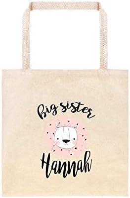 Bolsa de regalo personalizada para hermana mayor, hermana mayor, bolsa de regalo personalizada, bolsa de regalo de animales safari, bolsa de hospital