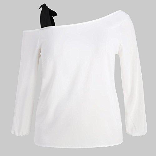 FIRSS Schulterfrei Tops   Slash Neck Hemd   Verband Oberteile   Einfarbig T- Shirt   Elegante Shirt   Damen Langarmshirt Blusen  Amazon.de  Bekleidung be862b2867