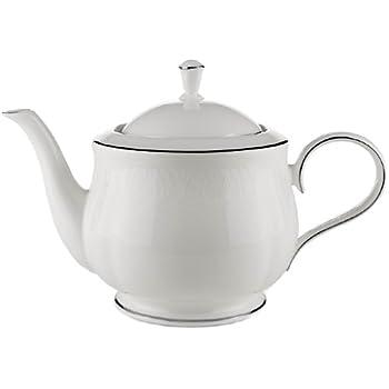 Lenox Hannah Platinum Bone China Teapot