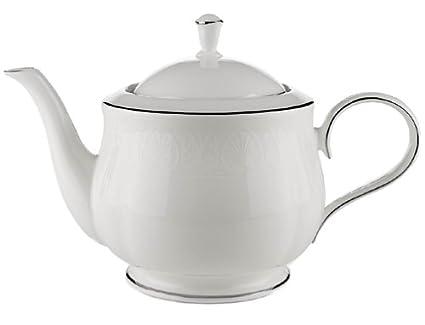 Amazon.com: Lenox Hannah Platinum Bone China Teapot: Kitchen & Dining