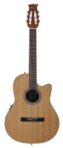 Ovation Applause Balladeer AB24CII-CED Mid Depth Classical Guitar, Natural - Nylon String Ovation Guitar