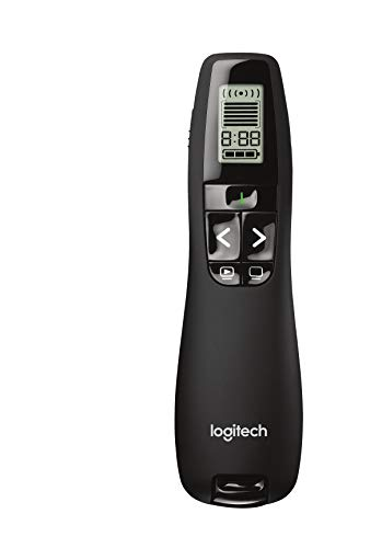 (Logitech Professional Presenter R800, Presentation Wireless Presenter with Laser Pointer Green)