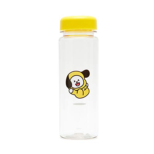 BT21 BTS Official Merchandise by Line Friends - CHIMMY 16-Ounce BPA-Free Tritan Drinking Tumbler with Lid, Yellow