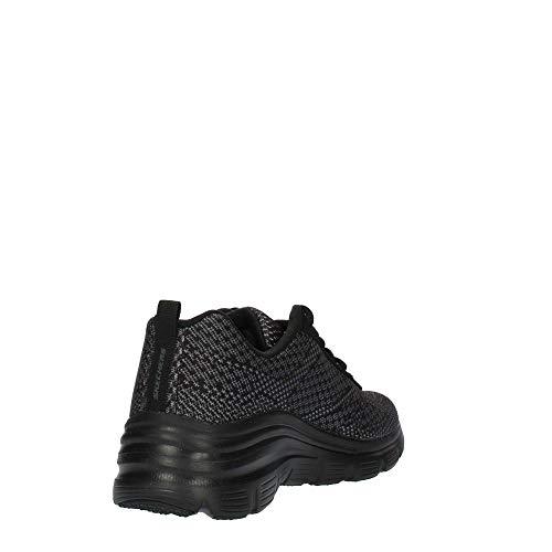 bold Mujer Zapatillas Negro Bbk Skechers Fit Para Boundaries black black Fashion nw1wqxCE