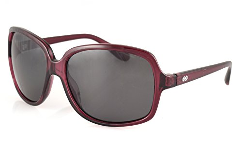 13Fifty Newport Womens Wraparound Square Sunglass, Purple Frame, Black Polarized - Sunglasses Newport