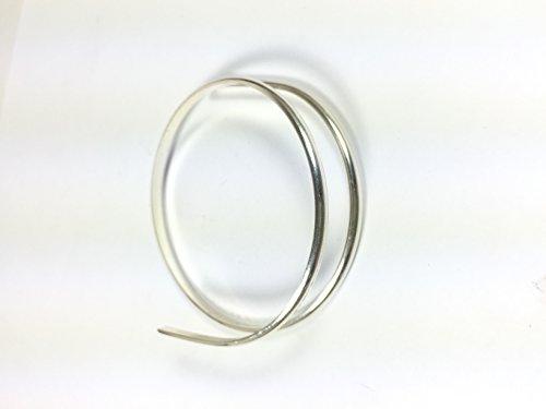 8 gauge half Round sterling silver wire 1 ft, 3.25 mm x 1.63 mm size ()