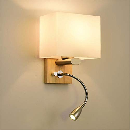 Wall Lamp Contemporary Wall Light Simple Creative Bedroom Bed Canopy Solid Wood Wall Lamp Durable Wall Sconce Lighting Bedroom Living Room Dining Room Wall Light ( Color : C , Size : No light source )