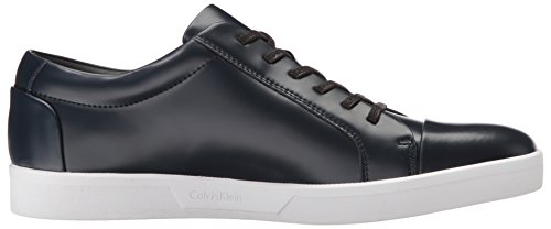 Calvin Klein Mens Ibrahim Box Leather Fashion Sneaker Dark Navy YaKFJnNQ8