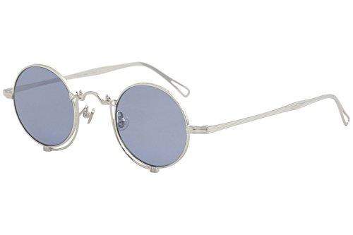 Matsuda Men's 10601H 10601/H PW White Palladium Fashion Round Sunglasses ()