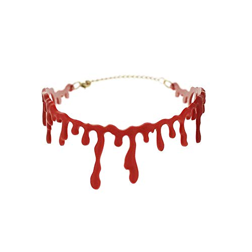 Is Halloween Horror Nights Good This Year (Punk Party Necklace Chain Halloween Charm Dress Ball Blood Red Stitch Choker Clothing Accessories Simple Best Gift)
