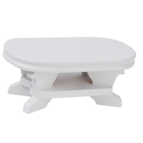 Gold Wing 1:12 Dollhouse Miniature Furniture Coffee Table White