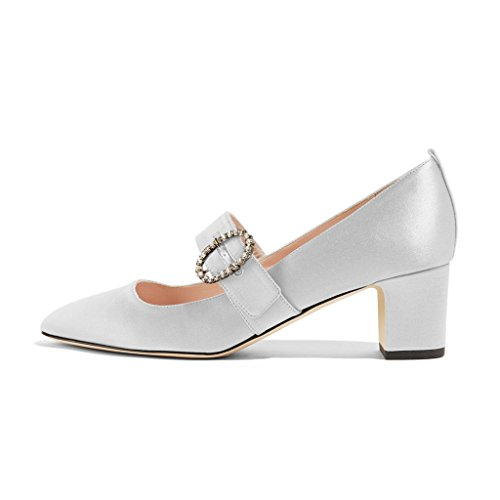 XYD Vintage Retro Mary Jane Shoes Closed Squared Toe Bloc...