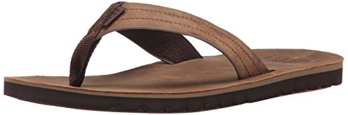 Reef Men's Voyage Le Sandal, Dark Brown, 11 M US by Reef
