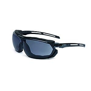 UVEX by Honeywell S4041 Tirade Sealed Safety Eyewear with Black Frame, Gray Lens and Uvextra Anti-Fog Coating