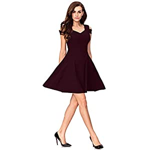 ADDYVERO Women's Cold Sleeve Skater Dress