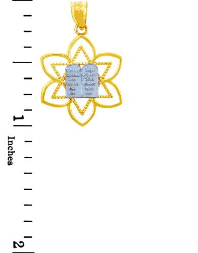 10 ct 471/1000 Charme Juive - Mizpah etoile de David Or Pendentif