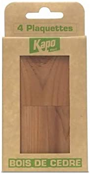 Kapo Verde - Estuche de 4 Pastillas antipolillas (Madera de Cedro): Amazon.es: Hogar