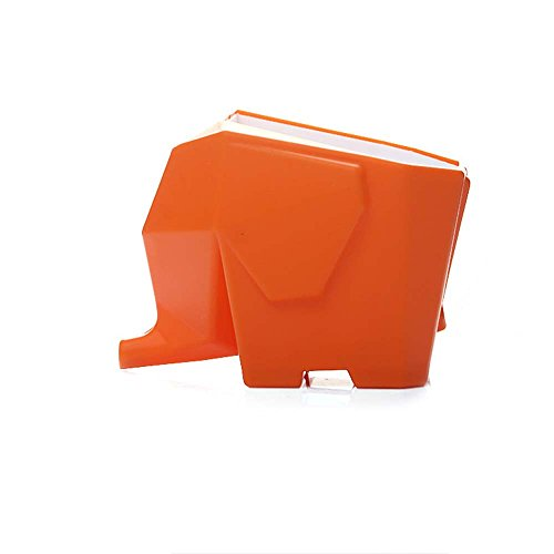 Calunce Elephant Kitchen Cutlery Drainer, Multi-role Plastic Cutlery Drainer,Orange
