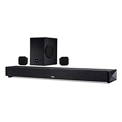 b99e738b86b Amazon.com  Blackweb Bluetooth 5.1-Channel Soundbar System with Wireless  Subwoofer