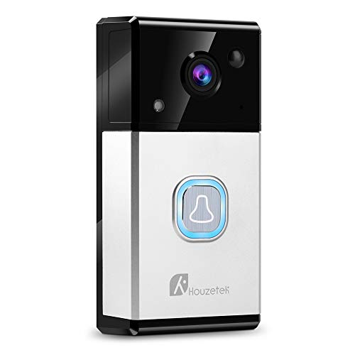 (WiFi Video Doorbell, Wireless Doorbell Camera 720P HD with WiFi Extender Two-Way Talk and Video, Night Vision, 32G Storage and Cloud Service, PIR Motion Detection with APP Control for IOS & Android)